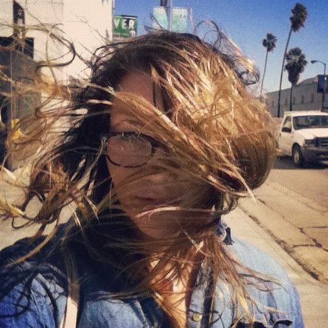 It's a little windy outside and my hair is taking over my face.