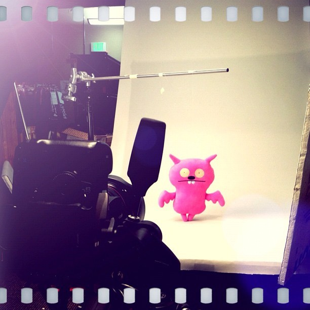 On set with #Uglydoll. Thanks to Sarah on our photo team for the snap! #zulily #behindthescenes #cute (Taken with Instagram at zulily HQ)