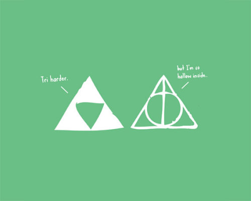 insanelygaming:  Tri-Force & Deathly Hallows - by SarahsSparkDesigns Available on Etsy
