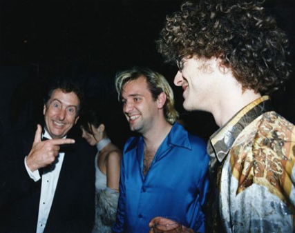 Eric Idle, Trey Parker and Matt Stone at the 1998 VF Oscar Party.
