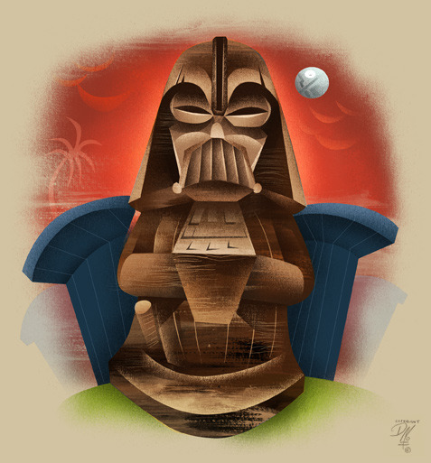 Darth Tiki illustration by Dave Mott :: via monkeyworks.org