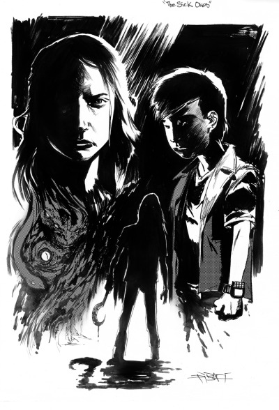 Today's warm-up sketch:from my horror graphic novel, The Sick Ones