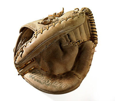 Gary Carter's glove (shot at the Baseball Hall of Fame)