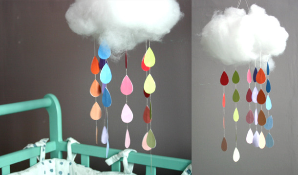 The DIY Project That Brings A Rainbow Before The Storm Ends! A wonderful DIY project that hangs perfectly in a child's bedroom, this DIY project is designed by the beautiful French blog, Lait Fraise. Full directions here.