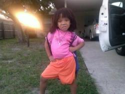 aslimshadylady:  dora from the hood