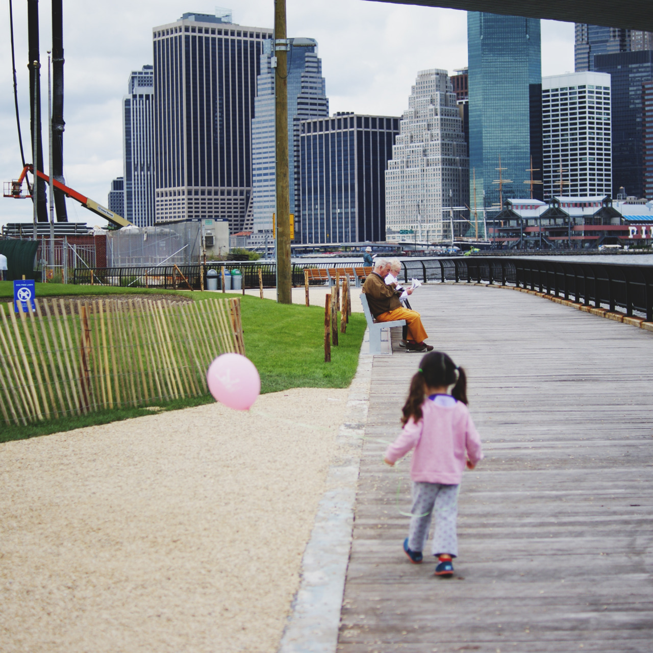 playing at Brooklyn Bridge Park.