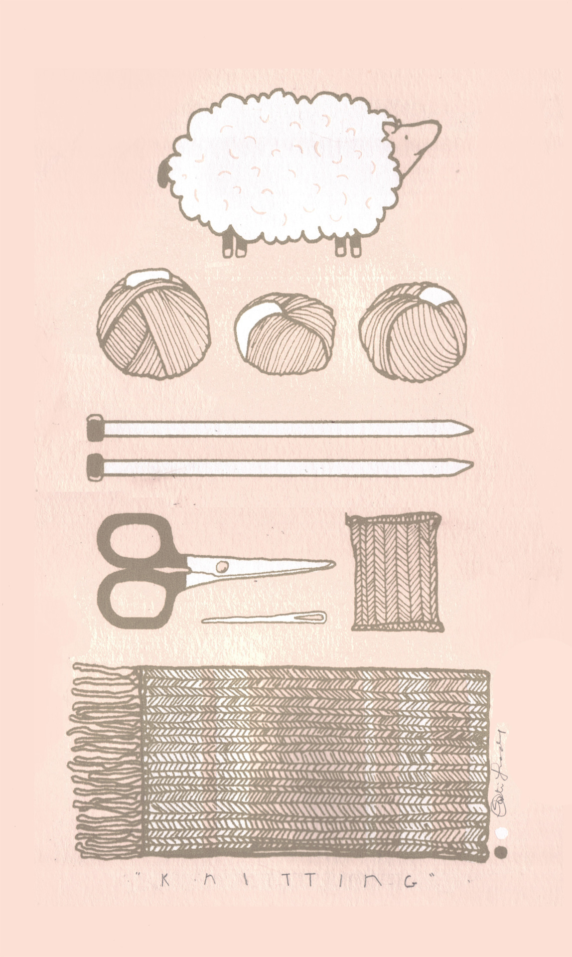 thingsorganizedneatly:  SUBMISSION: knitting essentials. print by Kati Lacker.