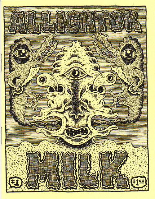 snakebomb:  spx:  Clotfelter, Max – Alligator Milk #1 via Optical Sloth)  SNAKEBOMB COMIX #2 CONTRIBUTOR MAX CLOTFELTER