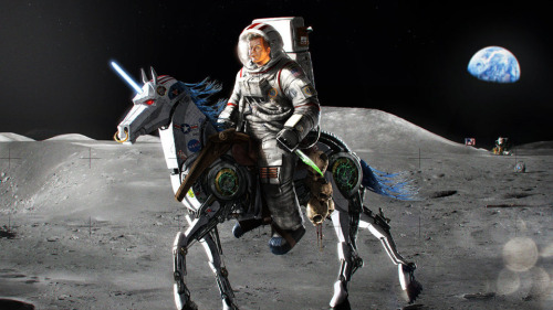 chrisdwoo:  thelos:  (via And now, JFK riding a robotic unicorn on the Moon)  ALWAYS…I WANT TO BE WITH YOU…AND MAKE BELIEVE WITH YOU…AND LIVE IN HARMONY HARMONY OH LOVE!!!