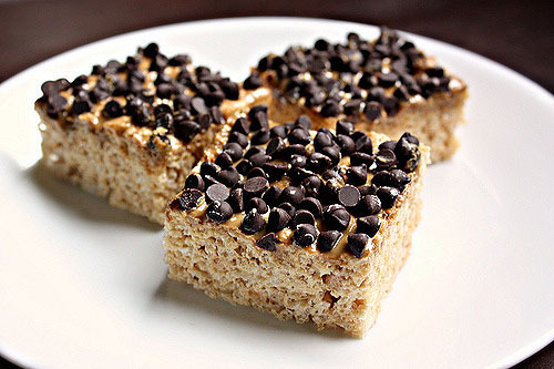 Chocolate Chip Rice Crispy Treats