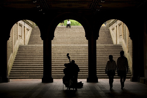 jenniferlourie:  Central Park (by Pablo Latorre)  Music and rythm find their way into the secret places of the soul. - Plato