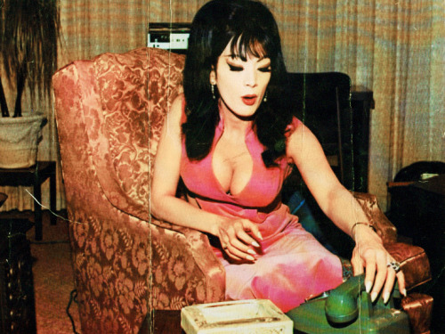 "wordsandturds:  vintagegal:  Tura Satana in Astro-Zombies (1968)  fun fact: ted v. mikels wrote astro-zombies for tura satana after he saw her dance at a strip club, beat up a woman who threw an ashtray at her, and beat up the bouncer who tried to break up the fight. ""she was so beautiful, and so angry,"" said mikels."