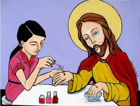 iheartchaos:  And lo, Jesus done got his nails did.
