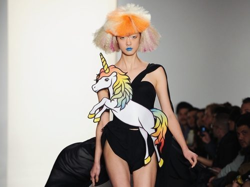 channeling lisa frank for 2012   whitelung:  New outfits for tour. What do you guys think? jessbloomforever:  jeremy scott, ss'12
