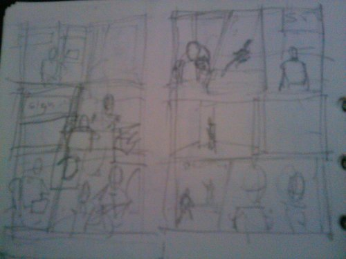 My primary sketch for paging and paneling comic 'Dhampyr' dhampyr-comic:  Stuffs from the artist scrap book.