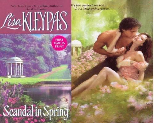 Scandal in Spring by Lisa Kleypas I love you, GIS. How I wish I could have been reading the paper version of this book on the train. Okay, first of all, we all know that romance titles are basically afterthoughts and they're all basically the same and usually I just let it go, but I want to take a second and bitch. This book takes place in spring, to be sure, but there is not even a whiff of scandal. In fact, Daisy, the youngest Wallflower, who we may remember from such romance novels as the rest of the Wallflower series, ends up marrying the very man her father picked out for her. THAT'S NOT A SCANDAL. I mean, I guess any out-of-wedlock sexxing counts as a scandal, but ugh. Can you just PRETEND to even care a tiny bit, romance editors? Oh yeah, spoiler alert. Or whatever. Did you really think this was going to have a surprise twist ending? Daisy is the youngest Wallflower, like I said above, and she's the dreamiest and she spends most of her life buried in a trashy book. A girl after our own heart, right? Much like her sister Lillian, she's funny, sly, and smart. Like the rest of the Wallflowers, she's very pleasant company and a terrific heroine. Matthew Swift, her intended, is very broody and smart and has a tragic past and whatever he's kind of boring, okay? I mean, not compared to a lot of romance novel dudes, but when compared to the Earl of Westcliff (I STILL remember that sex scene) or, be still my heart, St. Vincent, he doesn't quite measure up.  That said, this is a tremendously fun read, and after a break from Lisa Kleypas and a bit of reflection, I find that I really, REALLY enjoyed this whole series and her accurate and respectful take on female friendships. She never resorted to cliche and each of the Wallflowers felt like a fully-developed character to me. She was able to keep the characters interacting with each other in a way that did not feel like a Token Series Mention. If you like historical romance, you really need to read the Wallflower series. That's all.