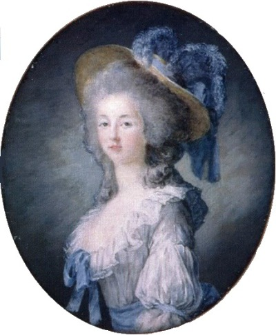 Miniature of Princesse Lamballe by Joseph Boze, 1780s