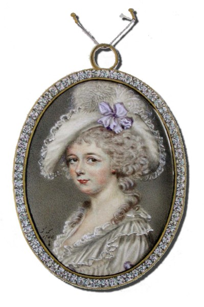 Miniature of Mrs. Oakeley by John Smart, 1780s