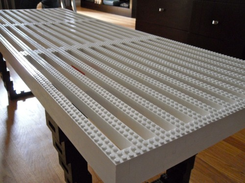 Recreating George Nelson's Platform Bench with LEGO. We just had to do it. And no…you can't sit on it.  //LEGO bench