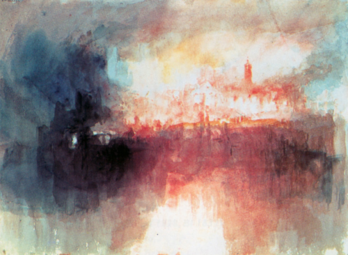 tamburina:  William Turner, Incident at the London Parliament, 1834
