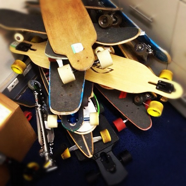 @partyzombie's loot and plunder. #skate #longboards (Taken with instagram)