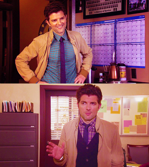 "Ben Wyatt's fancy ""Meeting with Cops"" outfits"