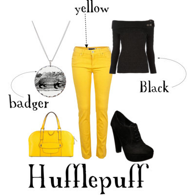 myhighstyle:  Someone as hardworking as a Hufflepuff deserves to look this fabulous.