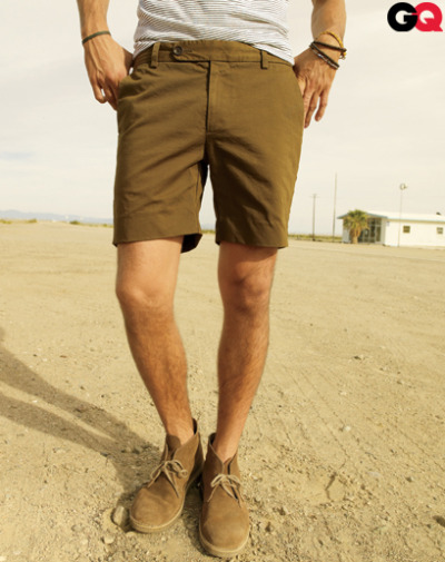 thetieguy:  i really like these shorts and shirt here. i dont know if i would wear desert boots with this though. maybe just a simple pair of boat shoes or bucks would be better.