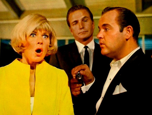 Doris Day, Eric Fleming & Dom DeLuise (The Glass Bottom Boat) (by Greenman 2008)