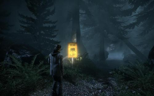 dorothyparkerblue:  Most terrifying scene of Alan Wake so far..
