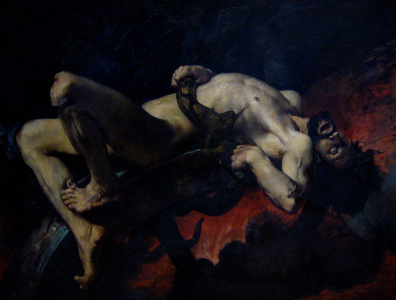 balsiek:  Jules-Elie Delaunay, Ixion Thrown into Hades, 1876