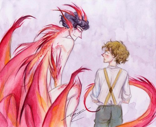worlds-only-consulting-dragon:  Bilbo and Smaug by ~monyta