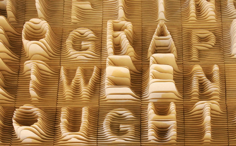Simple, but fun laser-cut alphabet topography by Synoptic Office:  http://www.synopticoffice.com/project.php?projectid=1&selectedcol=1