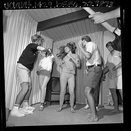 A swingin' teenager's dance party, 1960s.