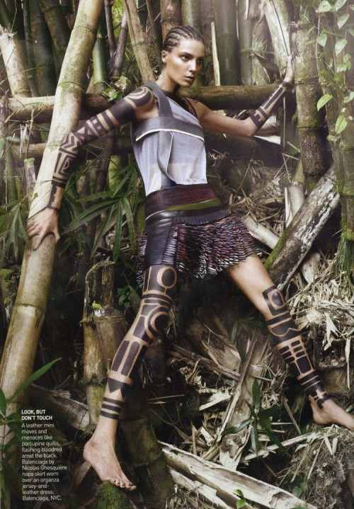 "Daria Werbowy in ""THE WARRIOR WAY"" Photographed By David Sims & Styled By Grace Coddington For VOGUE US March 2010"