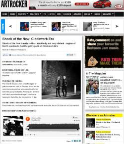 Clockwork Era featured as an Artrocker SHOCK OF THE NEW