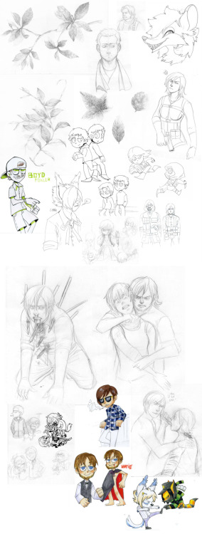 Have some old random doodles. Includes: Dexter, Resident Evil, OCs,Vampire,plants,furries and a little of torture.