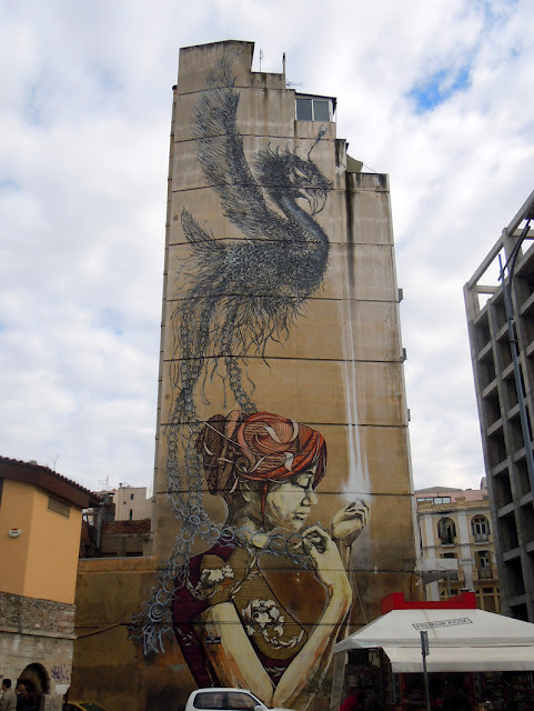 streetartathens:  DAL x Faith47 New Mural In Thessaloniki, Greece
