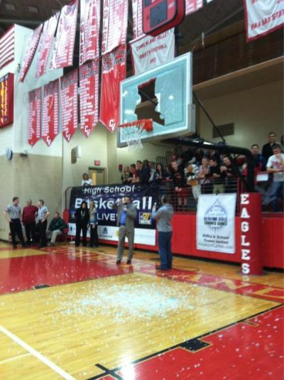 Some high school kid completely smashed the backboard at the boys' championship basketball game last night.  http://blog.pennlive.com/patriotnewssports/2012/02/mid-penn_boys_basketball_champ.html