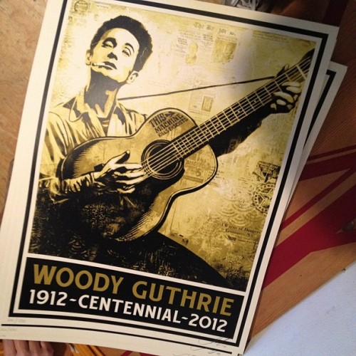 newportfolkfest:  Shepard Fairey takes on folk music.