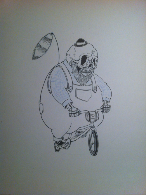 La (fat) Muerta on a mini bike #wip