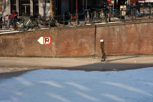 No parking in the canal, Amsterdam