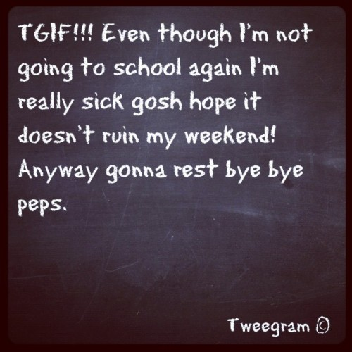 #tweegram #sick #tired sick again…. 😪 (Taken with instagram)
