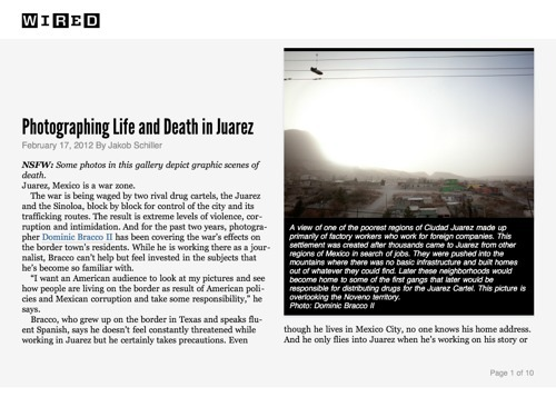 Photographing Life and Death in Juarez