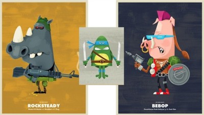 These Teenage Mutant Ninja Turtles-based masterpieces also pay homage to villains like Rocksteady 'n Bebop.