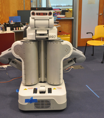 laboratoryequipment:  Robot Algorithm Allows Continuous 3D Map DevelopmentRobots could one day navigate through constantly changing surroundings with virtually no input from humans, thanks to a system that allows them to build and continuously update a three-dimensional map of their environment using a low-cost camera such as Microsoft's Kinect. The system, being developed by researchers at MIT's Computer Science and Artificial Intelligence Laboratory (CSAIL), could also allow blind people to make their way unaided through crowded buildings such as hospitals and shopping malls.Read more: http://www.laboratoryequipment.com/news-Algorithm-Allows-Robots-to-Chart-Course-Without-Human-Help-021712.aspx