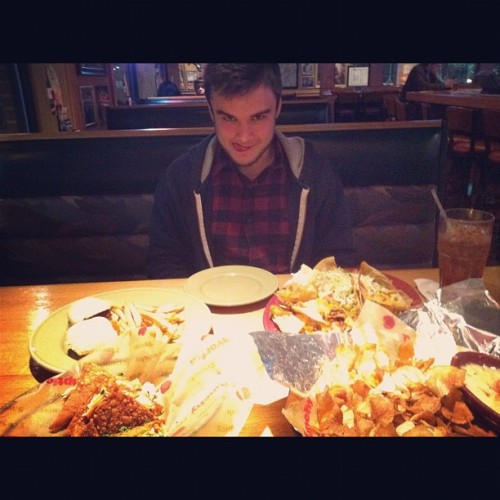 #sexy with our half price #apps #applebees #fatasses #high #munchies #ig #instagram #igdaily  (Taken with instagram)