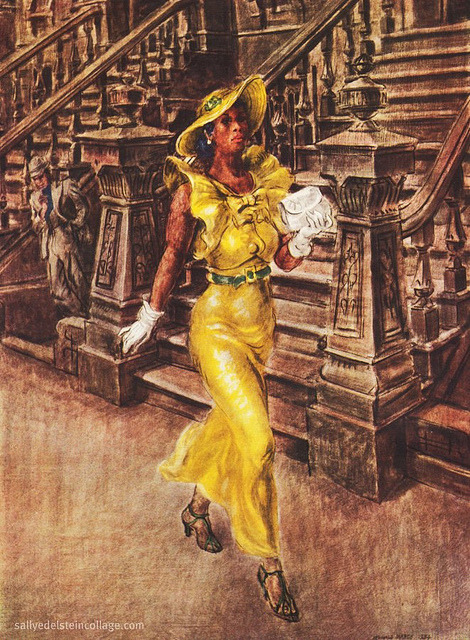 "Celebrating Black History on Flickr.""High Yaller"" by Reginald Marsh 1936 Prints of this popular  painting were popularly available in the mid 1930's from an artist run distribution agency called Living American Art inc."