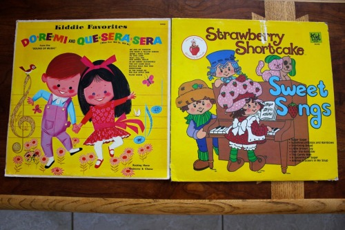 Found these two children's albums for a dime today. I loved Strawberry Shortcake when I was little.