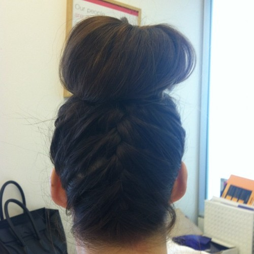 I love my braided bun! Thank you @racheljo cc @birchbox  (Taken with Instagram at Birchbox HQ)